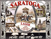 Beer Drawings Prints - Saratoga - Lager Print by Pg Reproductions