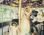 Carousel Horse Framed Prints - Saratoga Springs Carousel from Kayaderosseras  Framed Print by Lisa Russo