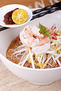 Noodles Framed Prints - Sarawak Prawn Laksa Framed Print by Eldred Lim