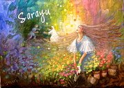 New Testament Painting Originals - Sarayu by Janet McGrath
