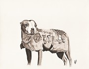Army Drawings Originals - Sargent Stubby by Alisa Towers
