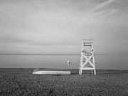 Monotone Prints - Sasco Life Guard Chair Print by Stephanie McDowell