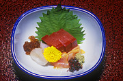 Cuisine Photographs Prints - Sashimi Miya Jima Japan Print by Craig Lovell