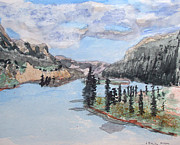 Quietude Paintings - Saskatchewan River Crossing - Icefields Parkway by R Kyllo