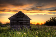 Shed Acrylic Prints - Saskatchewan Sunset Acrylic Print by Matt Dobson