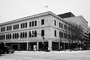 Snow Board Prints - Saskatoon board of education building formerly eatons Saskatchewan Canada Print by Joe Fox