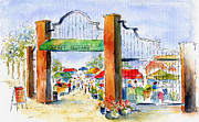 Gates Paintings - Saskatoon Farmers Market by Pat Katz