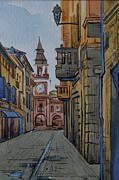 City Scene Drawings - Sassuolo-1 by Khromykh Natalia
