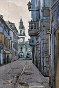 City Scene Drawings - Sassuolo-2 by Khromykh Natalia