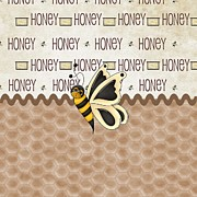 Bee Digital Art - Sassy Honey Bee by Debra  Miller