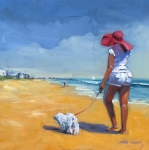 Beach Paintings - Sassy Three by Laura Lee Zanghetti