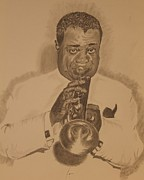 Michael Mcgrath Art - Satchmo by Michael McGrath