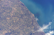 Saint Joseph Prints - Satellite View Of St. Joseph Area Print by Stocktrek Images