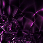 Deep Purple Prints - Satin and Lace Print by Sharon Lisa Clarke