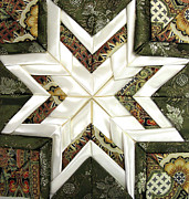 Star Tapestries - Textiles Prints - Satin Star Print by Frederic Kohli