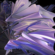 Fractal Geometry Digital Art Originals - Satin Wing by jammer by First Star Art