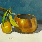 Tangerine Paintings - Satsuma and Copper by Lori Quarton