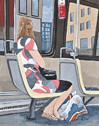 Summer Dresses Paintings - Saturday Morning on the 107 by Reb Frost