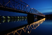 Riverfront Prints - Saturday Night Lights Print by Lori Deiter