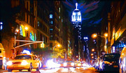 Saturday Night Live Paintings - Saturday Night New York Live by Tim Gilliland