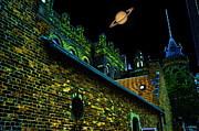 Beer Originals - Saturn Over Pabst Brewery Fantasy Image Of Abandoned Home Of Blue Ribbob Beer From 1860  by Lawrence Christopher