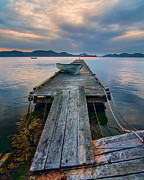 Wooden Platform Framed Prints - Saturna Island Dock Framed Print by James Wheeler