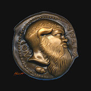 Greek Sculpture Sculpture Posters - Satyr or Silenos Poster by Patricia Howitt