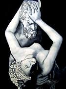 Satyre Et Bacchante Print by Emmanuel Turner