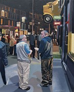 Urban Scenes Prints - Sauchiehall Street Print by Malcolm Warrilow