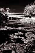 Ir Posters - Saucks Bridge down stream Poster by Paul W Faust -  Impressions of Light