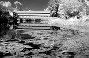 Ir Posters - Saucks Bridge - Pond - BW Poster by Paul W Faust -  Impressions of Light