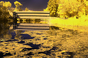 Ir Prints - Saucks Bridge - Pond Print by Paul W Faust -  Impressions of Light