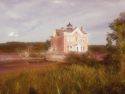 Saugerties Prints - Saugerties Lighthouse Print by Gina Bartosiewicz