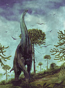 Dino Digital Art - Sauroposeidon Dinosaur by World Art Prints And Designs