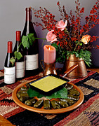 Grape Leaves Photos - Sausage in Grape Leaves by Craig Lovell