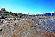 Bay Area Digital Art Metal Prints - Sausalito Beach Sausalito California 5D22696 Artwork Metal Print by Wingsdomain Art and Photography