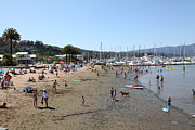 Piers Prints - Sausalito Beach Sausalito California 5D22696 Print by Wingsdomain Art and Photography