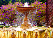 Sausalito Prints - Sausalito California Fountain Print by Jerome Stumphauzer
