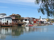 Sausalito Prints - Sausalito Houseboat Row Print by Spyglass Galleries -  Captain Layne