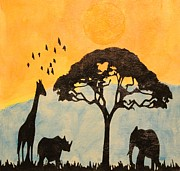 Twilight Vision Art - Savanna glow in the dark day time image by Twilight Vision