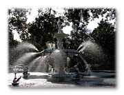 Forsythe Fountain Savannah Framed Prints - Savannah Forsythe Fountain Show Framed Print by Jacqueline M Lewis
