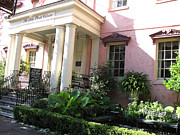 Pink Photos Prints - Savannah Georgia - The Olde Pink House Historical Restaurant Print by Kathy Fornal