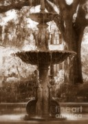 Fountain Photograph Posters - Savannah Romance Poster by Carol Groenen