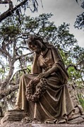 Pondering Prints - Savannah Thinker Print by Dem Wolfe