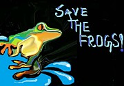 Save Frogs Posters - Save The Frogs Poster by Poornima M