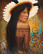Tribal Art Paintings - Save Xingu by Sharon Irla