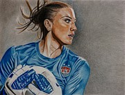 Soccer Drawings Acrylic Prints - Saved By Hope Acrylic Print by Brian Broadway