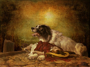 Canines Digital Art - Saving Grace by Pamela Phelps