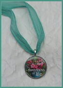 Charming Cottage Prints - Savor the Sweetness Pendant Print by Carla Parris