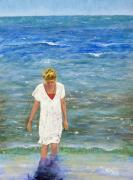 Missing You Paintings - Savoring the Sea by Margaret Bobb